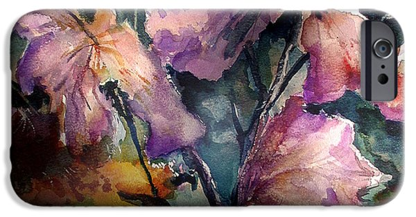 Windblown Paintings iPhone Cases - Garden Study iPhone Case by John  Mabry