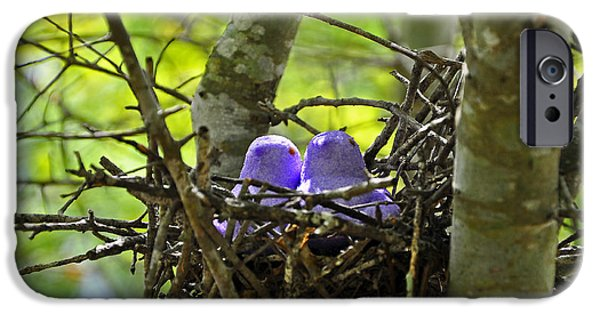 Strange iPhone Cases - Purple Peeps Pair iPhone Case by Al Powell Photography USA