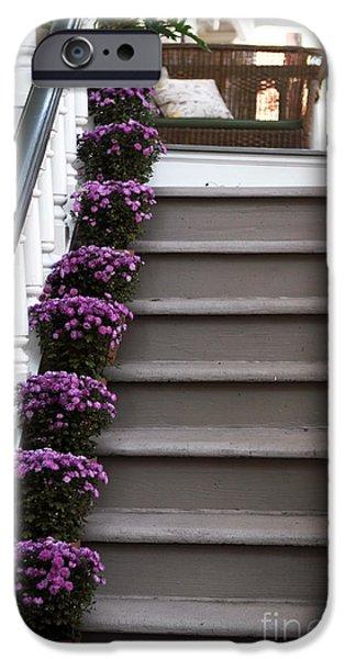 Purple Plants iPhone Case by John Rizzuto