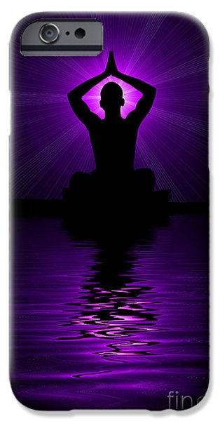 Purple prayer iPhone Case by Tim Gainey