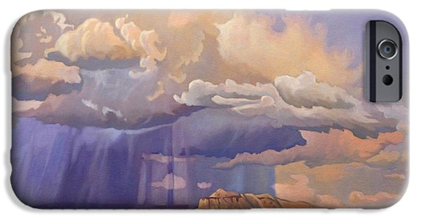 Pinion Paintings iPhone Cases - Purple Rain iPhone Case by Art James West