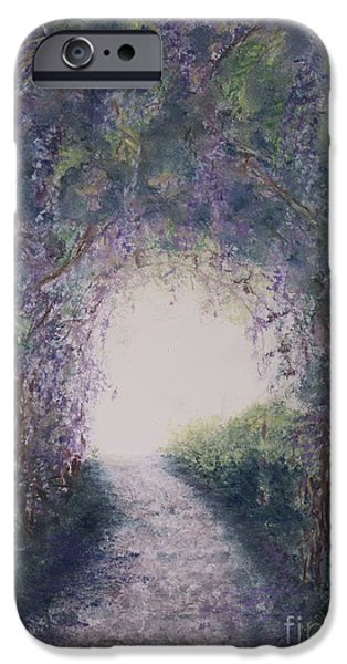 Pathway Pastels iPhone Cases - Purple Rain iPhone Case by Stanza Widen