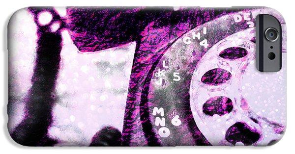 Industrial iPhone Cases - Purple Rotary Phone iPhone Case by Jon Woodhams