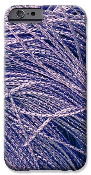 Imitation iPhone Cases - Purple string iPhone Case by Tom Gowanlock
