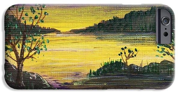 Aceo iPhone Cases - Purple Sunset iPhone Case by Anastasiya Malakhova