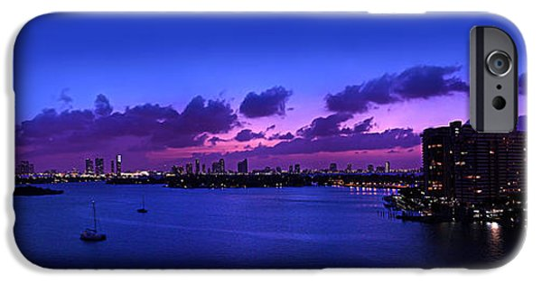 4th Of July iPhone Cases - Purple Sunset iPhone Case by Michael Guirguis