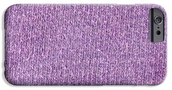 Netting iPhone Cases - Purple textile iPhone Case by Tom Gowanlock