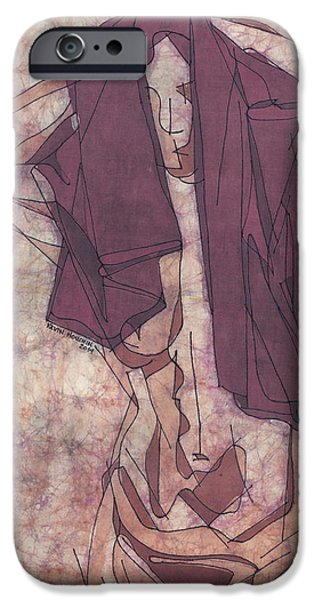 Nudes Tapestries - Textiles iPhone Cases - Purple Towel iPhone Case by Kevin Houchin