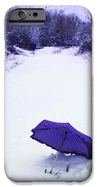 Umbrella Photographs iPhone Cases - Purple Umbrella iPhone Case by Amanda And Christopher Elwell