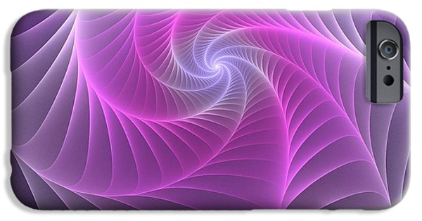 Net Mixed Media iPhone Cases - Purple Web iPhone Case by Anastasiya Malakhova