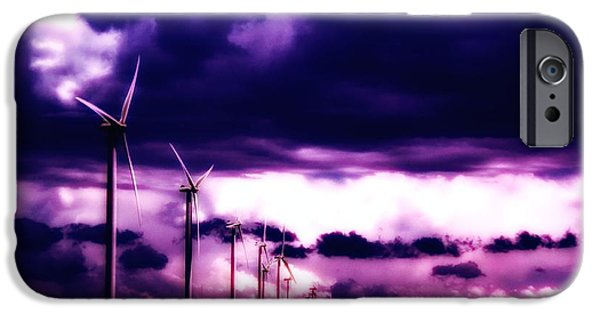 Electrical Equipment iPhone Cases - Purple Winds iPhone Case by Todd and candice Dailey
