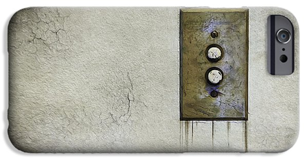 Plaster iPhone Cases - Push Button iPhone Case by Scott Norris