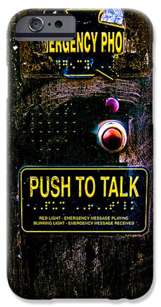 Police Art iPhone Cases - Push To Talk iPhone Case by Bob Orsillo