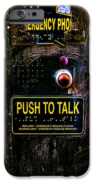 Push To Talk iPhone Case by Bob Orsillo