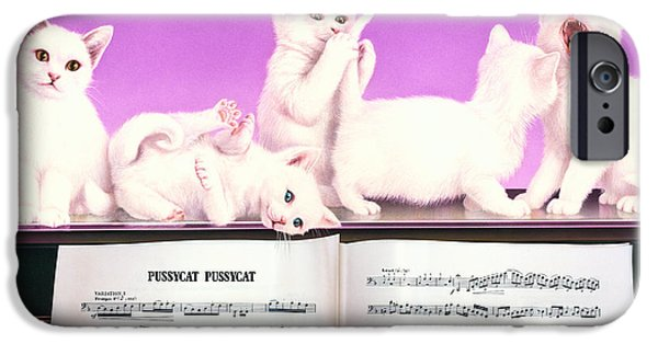 Piano iPhone Cases - Pussy Cat Pussy Cat iPhone Case by Andrew Farley