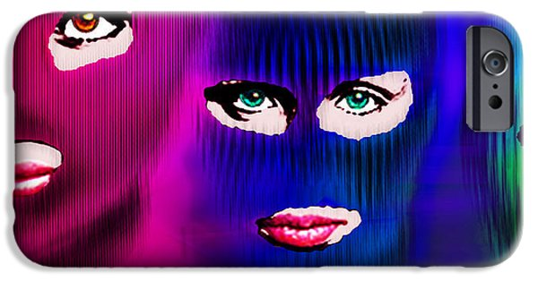 Free Mixed Media iPhone Cases - Pussy Riot iPhone Case by Tony Rubino