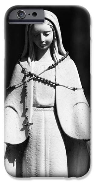 Statue Portrait iPhone Cases - Put My Life In Your Hands  iPhone Case by Jerry Cordeiro