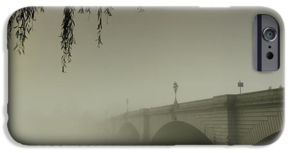 Connection iPhone Cases - Putney Bridge During Fog, Thames River iPhone Case by Panoramic Images