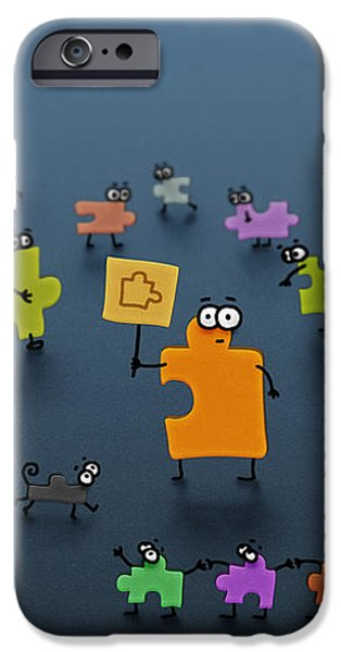 Puzzle Family iPhone Case by Gianfranco Weiss