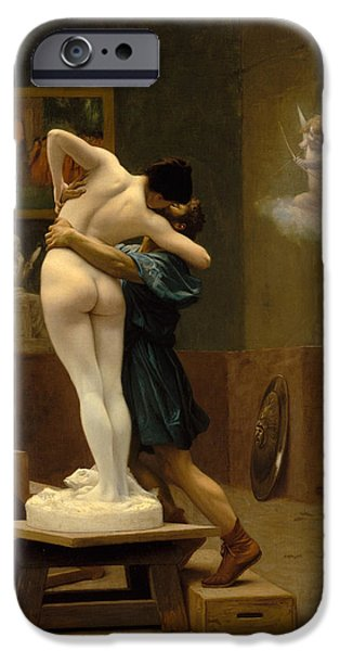 Gerome iPhone Cases - Pygmalion and Galatea iPhone Case by Jean-Leon Gerome