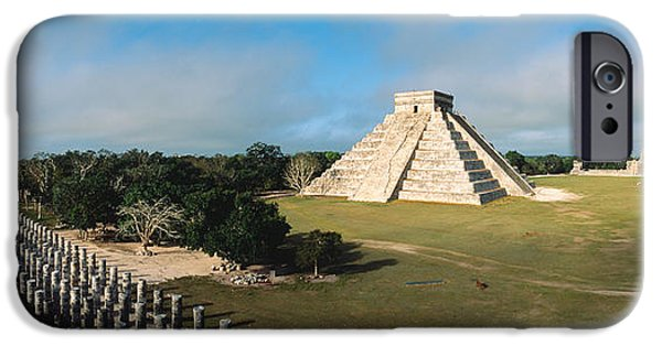 Serpent Photographs iPhone Cases - Pyramid Chichen Itza Mexico iPhone Case by Panoramic Images