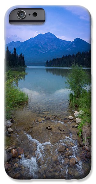 Geographic iPhone Cases - Pyramid Mountain and Lake. iPhone Case by Cale Best
