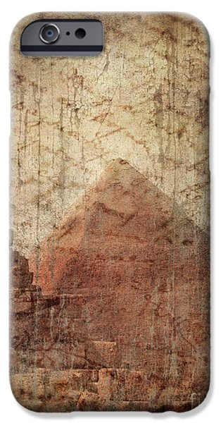 Torn iPhone Cases - Pyramid Mystery iPhone Case by Jelena Jovanovic