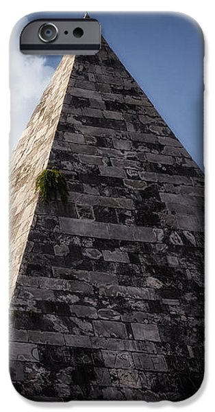 Pyramid of Rome iPhone Case by Joan Carroll