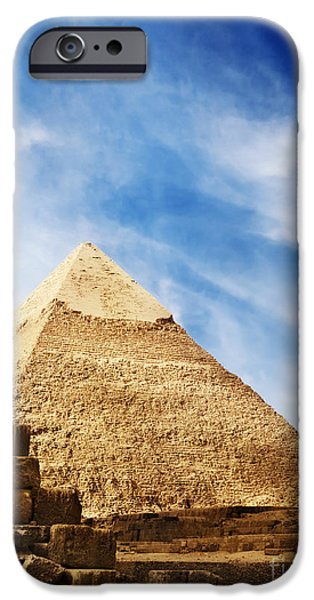 East Pyrography iPhone Cases - Pyramids in Egypt  iPhone Case by Jelena Jovanovic