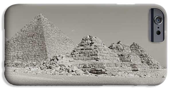 East Africa Photographs iPhone Cases - Pyramids Of Giza, Egypt iPhone Case by Panoramic Images