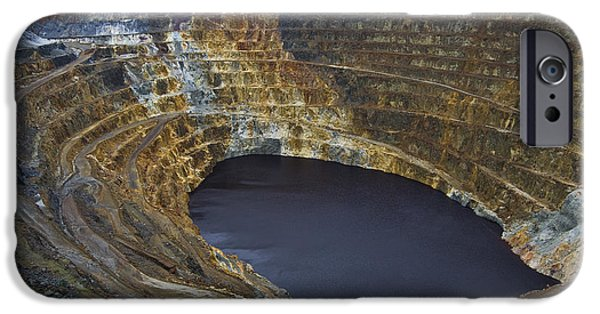 Industry iPhone Cases - Pyrite Mine Open Pit iPhone Case by Pablo Romero