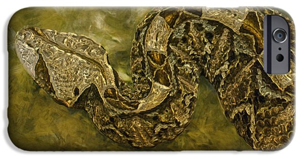 Wrap Digital Art iPhone Cases - Python iPhone Case by Jack Zulli