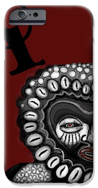 Alice In Wonderland iPhone Cases - Q-of-H of Africa iPhone Case by Carol Jacobs