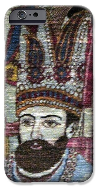 Persian Carpet iPhone Cases - Qajat portrait Photos of Persian Antique Rugs Kilims Carpets  iPhone Case by Persian Art