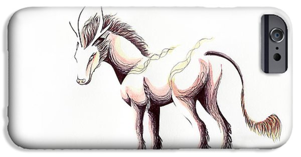 Inverted Drawings iPhone Cases - Sun- Day and Night Qilin Inversion Painting iPhone Case by Anila Tac