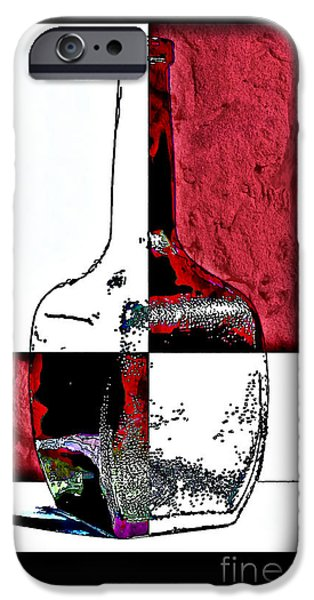 Quad iPhone Cases - Quad Bottle Composite Abstract iPhone Case by Walt Foegelle