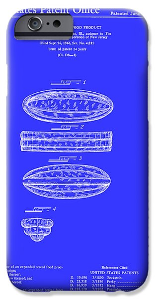 Quaker Drawings iPhone Cases - Quaker Oats Cereal Food Patent 1967 iPhone Case by Mountain Dreams
