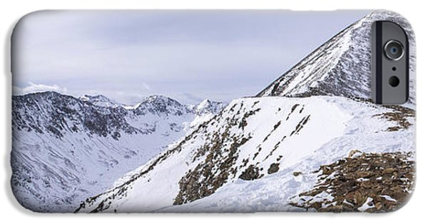 Unique View iPhone Cases - Quandary Peak Panorama iPhone Case by Aaron Spong