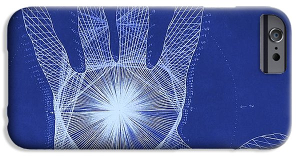 Root iPhone Cases - Quantum Hand Through My Eyes iPhone Case by Jason Padgett