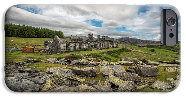 Ruins iPhone Cases - Quarry Cottages iPhone Case by Adrian Evans