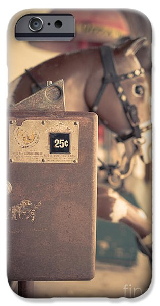 Coin iPhone Cases - Quarter Horse iPhone Case by Edward Fielding
