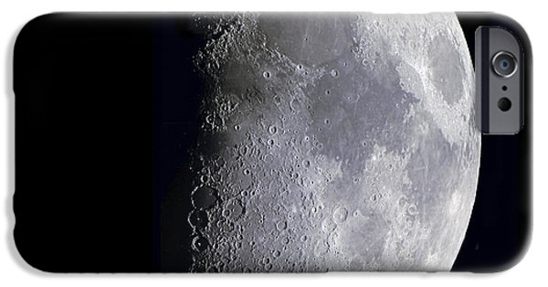 Mosaic Photographs iPhone Cases - Quarter Moon iPhone Case by Alan Dyer