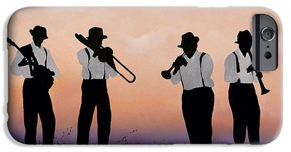 Trumpet Paintings iPhone Cases - Quattro iPhone Case by Guido Borelli
