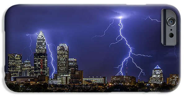 Charlotte iPhone Cases - Queen City Strike iPhone Case by Chris Austin