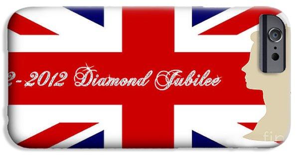 Jubilee Digital iPhone Cases - Queen Elizabeth II Diamond Jubilee iPhone Case by Natalie Kinnear