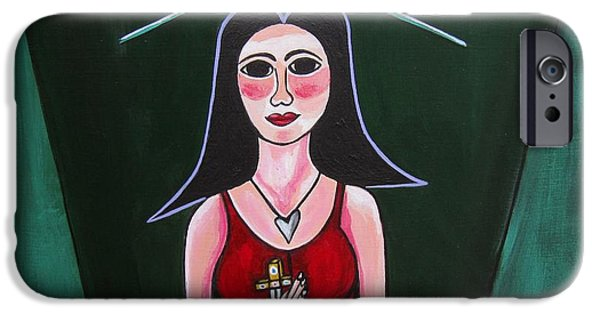 Prostitutes Paintings iPhone Cases - Queen Mary Magdalene iPhone Case by Sandra Marie Adams