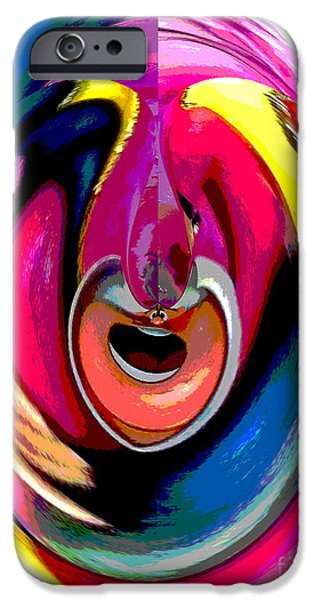 Alice In Wonderland iPhone Cases - Queen of Hearts Abstract iPhone Case by Marian Bell