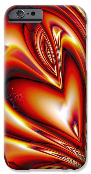 Shape iPhone Cases - Queen of Hearts iPhone Case by Anastasiya Malakhova