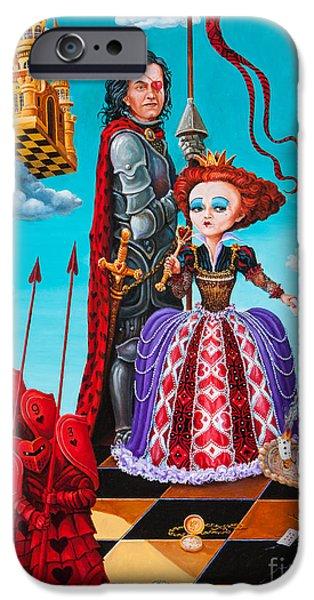 Alice In Wonderland iPhone Cases - Queen of Hearts. Part 1 iPhone Case by Igor Postash