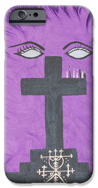 Vodou iPhone Cases - Queen of The Ghede iPhone Case by Dayila Divine